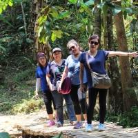 Hiking to Khun Kon Waterfall